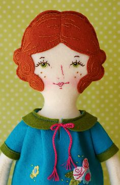 Rosie - PDF Pattern Wool Felt Doll on Etsy, $20.00