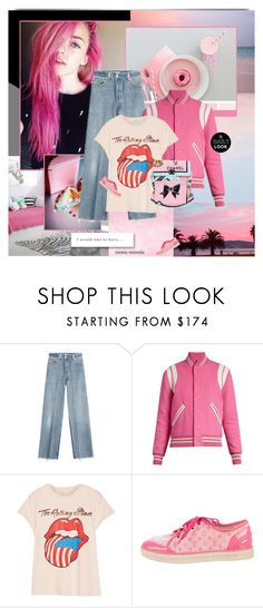 """""""Pyper  America"""" by rainie-minnie ❤ liked on Polyvore featuring RE/DONE, Yves Saint Laurent, MadeWorn and Louis Vuitton"""