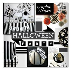 """""""Seeing Stripes"""" by tanyaf1 ❤ liked on Polyvore featuring interior, interiors, interior design, home, home decor, interior decorating, Halloween and hauntedhouse"""