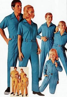 "jgarzten3:    superseventies:    Sears fashions for the whole family, 1970s.    From the Thaddeus Venture collection.    ""Welcome to the Cult of Jack LaLanne. Here's your uniform."""