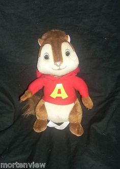 "8"" Plush Alvin and The Chipmunks Movie Stuffed Animal Toy 
