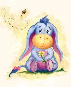 Winnie the Pooh - Baby Eeyore Illustration Art Print bt faedri Winnie Pooh Dibujo, Winnie The Pooh Drawing, Winnie The Pooh Quotes, Winnie The Pooh Friends, Disney Winnie The Pooh, Eeyore Quotes, Cute Disney, Disney Art, Disney Drawings