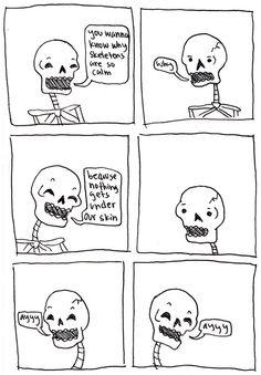 skeleton comic