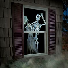 What's going on in that house? This cool projector displays Halloween scenes on your windows or, if you're having a Halloween party, set up the projector to display on a wall and place some skeletons around the room like they're watching a home movie. Don't forget the popcorn!