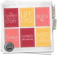 Serendipity Design: Freebie Summer cards collection digital scrapbooking free…