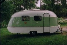 "Have to pin this for two reasons.... 1. It's the year I was born. 2. It's adorable 1968 SMV12 ""Egg Camper"""