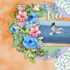 Natural is full of flowers and the freshness and brightness of Summer. You can make wonderful pages of all your Summer and Spring fun.