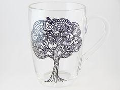 Tree Coffee Mug Hand Painted Mug (20.00 USD) by StainedGlassHandmade