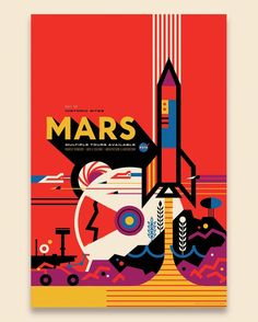 Mars: NASA's Mars Exploration Program seeks to understand whether Mars was, is, or can be a habitable world. Missions like Mars Pathfinder, Mars Exploration Rovers, Mars Science Laboratory and Mars Reconnaissance Orbiter, among many others, have provided important information in understanding of the habitability of Mars. This poster imagines a future day when we have achieved our vision of human exploration of ...