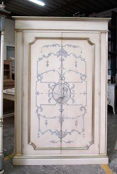 Porte decorate in legno massello laccate e decorate a mano con la ...