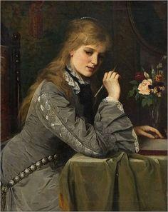 by Samuel Luke Fildes (1843/1927)  English painter