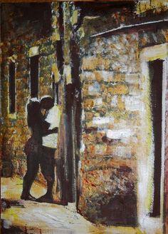 Csók / Kiss - Vászon, akril / Canvas, acrylic Artist: Kecskeméti Dóra