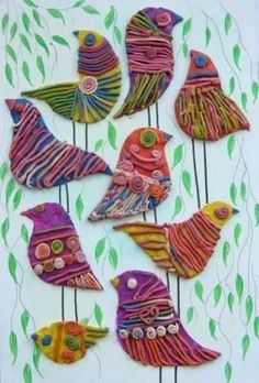 65 Trendy Animal Art Projects For Kids Schools Crafts Projects For Kids, Crafts For Kids, Arts And Crafts, Yarn Projects, Easy Crafts, Classe D'art, Nest Design, Media Design, Animal Art Projects