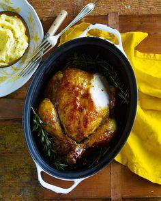 Chicken in the Heather.... Scottish roast chicken with Heather Honey