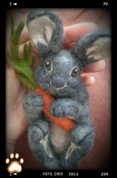 Needle felting a bunny; Photo tutorial | Fit to be loved