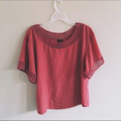 Willi Smith Boxy Top Pretty clay top from Willi Smith! Great condition! Willi Smith Tops Blouses
