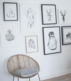 Gallery wall Gallery Wall, Art Prints, Wall Art, Frame, Instagram Posts, Artist, Home Decor, Animales, Art Impressions