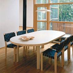 Artek Alvar Aalto - 611 Stacking Chairs - Artek Alvar Aalto - Chairs -- My dream dinner table! #finnstyle #artekulatemyspace