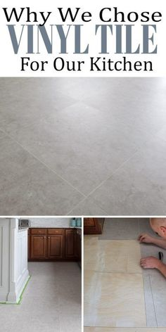 Luxury Vinyl Tile was perfect for our DIY tile installation project in the kitchen. Here is why we chose lvt flooring and the pros and cons (mostly pros) of it, including how we installed vinyl tile with grout strips.