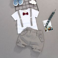 Summer Kids Boys Bow Clothes Sets Baby Gentleman High Qulity Short T shirt + Pants Toddler Boy Clothing Casual Kids Outfits Baby /collections/boys-clothing Preppy Outfits For School, Cute Boy Outfits, Toddler Boy Outfits, Cute Baby Clothes, Toddler Boys, Kids Boys, Kids Outfits, Baby Outfits, Summer Clothes