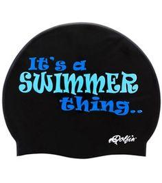 a39f432b27f Dolfin Swim Thing Silicone Swim Cap at SwimOutlet.com