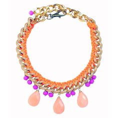 Jia Necklace Orange Purple by Clare Hynes Jewellery