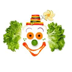 Buy Cheer your life like your food does. by Fisher-Photostudio on PhotoDune. A portrait of joyful clown made of vegetables and sauce. Clowns, Clean Recipes, Whole Food Recipes, Black Chicks, Paleo On The Go, Leaf Images, Food Words, Creative Icon, Creative Photography