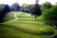 serpent mound Landscape Art, Landscape Design, Garden Design, Green Architecture, Landscape Architecture, Best Psychics, The Buckeye State, Natural Playground, Country Scenes
