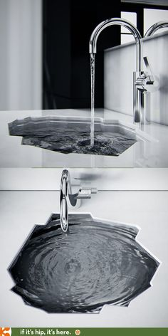 The arctic bathroom sink by koko architects Bathroom Sink Design, Modern Bathroom Decor, Bathroom Sink Faucets, Bathroom Interior Design, Master Bathroom, Classic Bathroom, Kitchen Sinks, Inset Sink, Shower Tile Designs