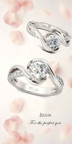 Jeulia Bypass Round Cut Created White Sapphire Engagement Ring #Jeulia
