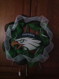 EAGLES wreath. The eagle and football glow in the dark. It's so neat!