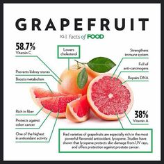 Is grapefruit a part of your diet? Citrus fruits like grapefruit can boost your immune system (with Vitamin C) in the colder months. Holistic Nutrition, Nutrition Education, Nutrition Tips, Health And Nutrition, Health Tips, Health And Wellness, Health Facts, Health Recipes, Health Goals