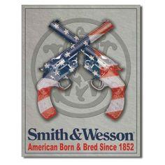 Smith & Wesson Born & Bred Tin Sign