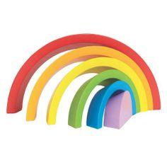 Hape Rainbow Curves Blocks at Oompa Toys