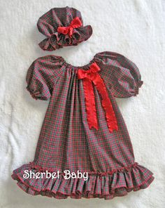 Red Plaid Bo Peep Prairie Bonnet and Toddler Girl or Baby Gown Set. $48.00, via Etsy.  This would be adorable for a Christmas photo!  http://www.etsy.com/listing/85738594/red-plaid-bo-peep-prairie-bonnet-and?ref=sr_gallery_29_search_query=toddler+girl+night+gown_order=most_relevant_view_type=gallery_ship_to=US_search_type=all#