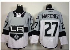 a72d3326e Los Angeles Kings  27 Alec Martinez White Grey 2015 Stadium Series Stitched  NHL Jersey