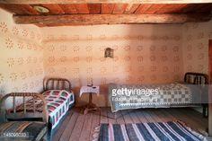 Stock Photo : New Mexico, Santa Fe, El Rancho De Las Golondrinas, Spanish Colonial Bedroom
