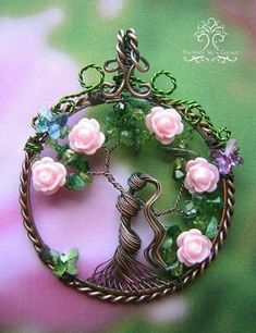 MADE TO ORDER: Persephone Greek Goddess Tree of Life Wire Wrapped Pendant…