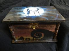 The Nightmare Before Christmas Trinket Box by KimKnots on Etsy, $35.00