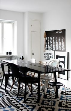 Get the look: Black & white décor