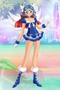 Sailor Merak of Ursa Major or Sailor Merak for short. Made by Shannon Stickel using doll divine's senshi maker.