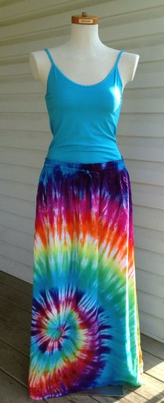 Hey, I found this really awesome Etsy listing at https://www.etsy.com/listing/153113666/rainbow-tie-dye-skirt-hippie-skirt