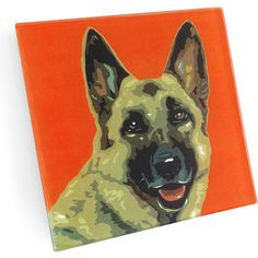 NAKED DECOR German Shepherd Coaster ($20) ❤ liked on Polyvore featuring home, kitchen & dining, bar tools, glass coasters, naked decor and handmade coasters