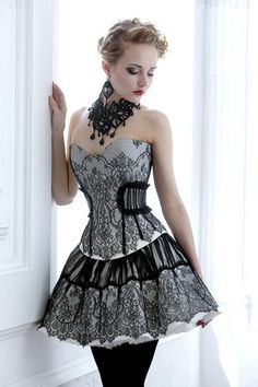 Corset and skirt