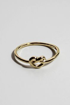 twist heart ring.