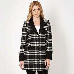 Designer black checked single breasted coat from Star by Julien Macdonald & OFF & Debenhams Julien Macdonald, Debenhams, Single Breasted, Plaid, Stars, Coat, Ireland, Design, Women