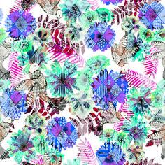 Azulejo floral, desenhado a mão com a caneta copic!