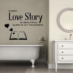 Adesivi da parete Every Love Story is Beautyful Wall Sticker Adesivo da Muro https://www.adesiviamo.it/prodotto/1270/Adesivi-da-parete/Adesivi-da-parete/Every-Love-Story-is-Beautyful-Wall-Sticker-Adesivo-da-Muro.html