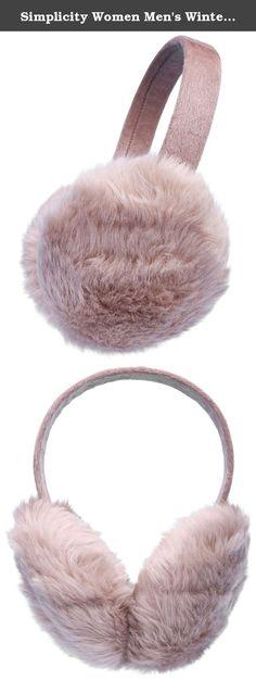 e5c863e3f3e Ear Muffs light red Women Winter Foldable Earmuffs Back Worn Stylish Cozy  Ear Warmers Wool Classic ...