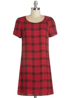 Plaid dress + shift dress = Ready for anything!